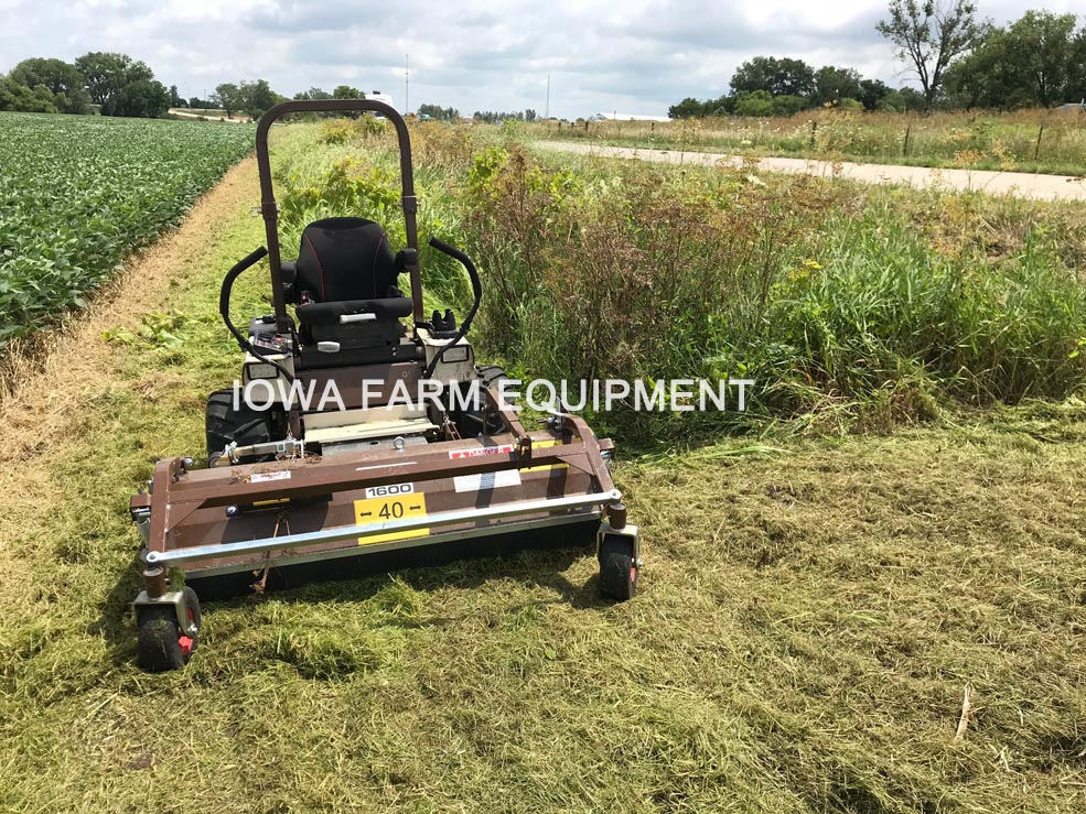 Front Flail Mower for Grasshopper Tractors -- Iowa Farm
