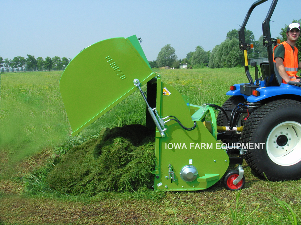 Peruzzo Panther Tractor 3-Point Organic Compost Mower and Collector