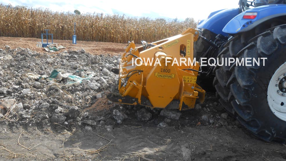 Valentini I Series Tractor PTO Rock Crushers